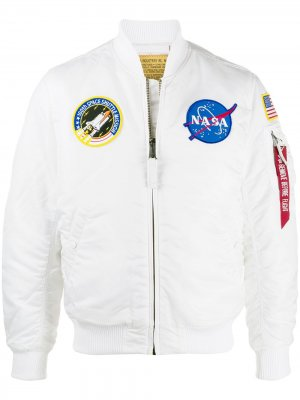 Бомбер NASA MA-1 Alpha Industries. Цвет: белый