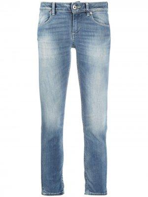 Укороченные джинсы средней посадки Dondup. Цвет: черный