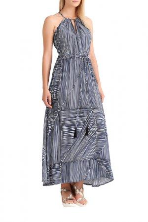 Платье Apart. Цвет: темно-синий, белый