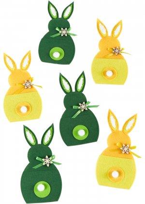 Подставка для столовых приборов, 6 шт. bonprix. Цвет: зеленый