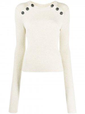 Пуловер Koyle в рубчик Isabel Marant Étoile. Цвет: нейтральные цвета