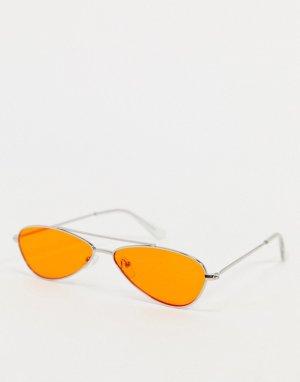 Оранжевые солнцезащитные очки-авиаторы -Оранжевый цвет AJ Morgan