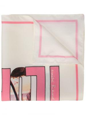 Шарф с принтом открытки Florida Amélie Pichard. Цвет: розовый