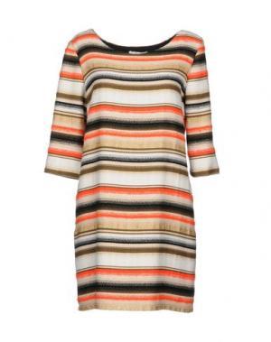 Короткое платье ELLA LUNA. Цвет: бежевый