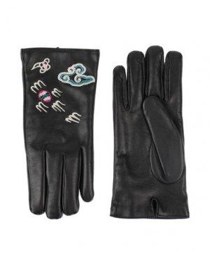 Перчатки GUCCI. Цвет: черный
