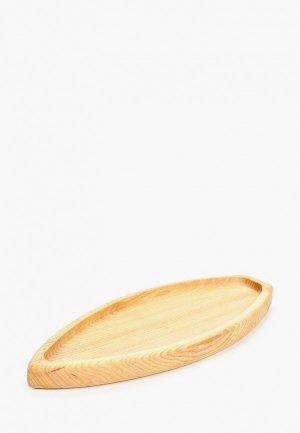 Блюдо сервировочное Svahomeart 30 см. х 12. Цвет: коричневый
