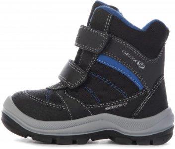 Ботинки утепленные детские Trivor, размер 25 Geox. Цвет: черный