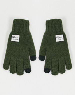 Перчатки -Зеленый цвет Thomas Calvi