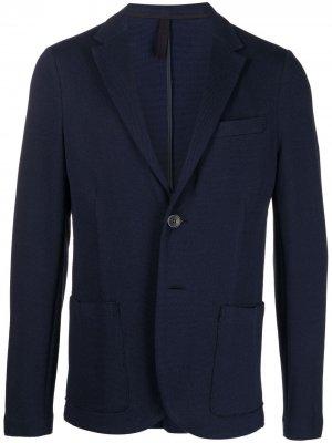 Пиджак строгого кроя Harris Wharf London. Цвет: синий