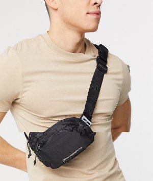 Черная сумка-кошелек на пояс -Черный Bershka