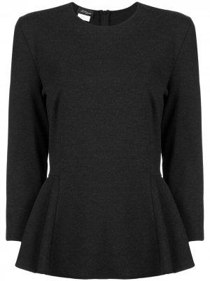 Блузка с баской Les Copains. Цвет: черный