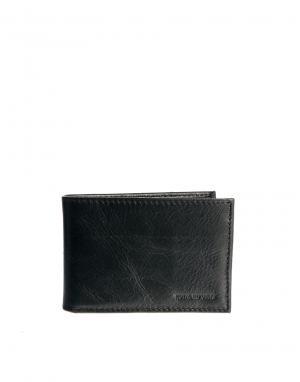 Кожаный кошелек Nano Royal RepubliQ. Цвет: черный