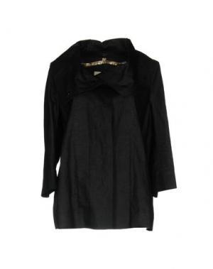 Легкое пальто ESEMPLARE. Цвет: темно-синий