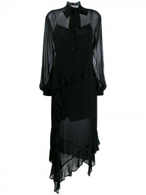 Платье-рубашка асимметричного кроя 8pm