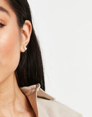 Миниатюрные серьги-гвоздики с искусственным жемчугом и камнем -Многоцветный Kate Spade