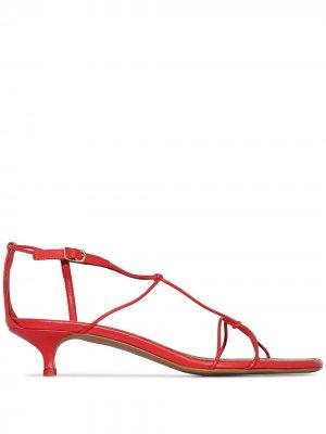Босоножки на каблуке-рюмке Zimmermann. Цвет: красный