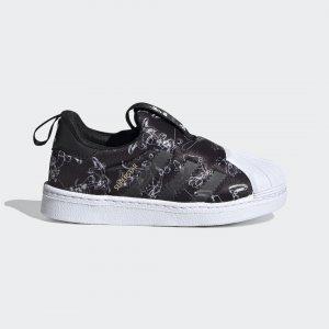 Кроссовки-слипоны Superstar 360 Originals adidas. Цвет: черный