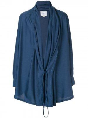 Легкий жакет с завязкой Vivienne Westwood Anglomania. Цвет: синий