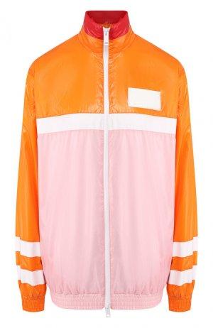Куртка Burberry. Цвет: оранжевый