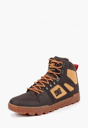 Ботинки DC Shoes PURE HT WR. Цвет: коричневый