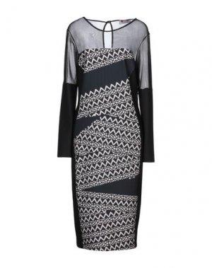 Платье миди GAI MATTIOLO. Цвет: черный