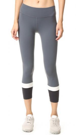 Леггинсы-капри Kate Spade с каймой Beyond Yoga. Цвет: коричневый