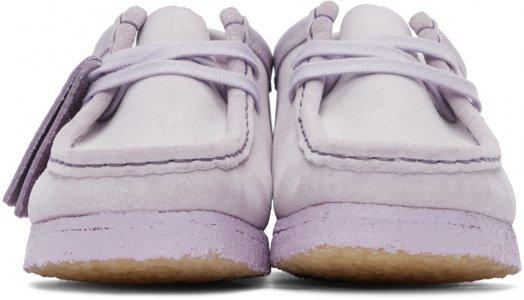 Purple Suede Wallabee Moccasins Clarks Originals. Цвет: lilac suede