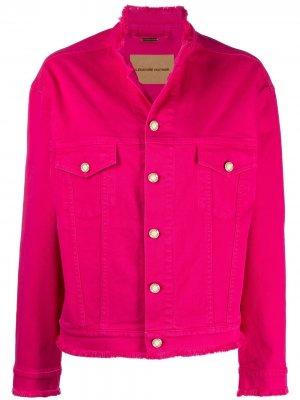 Джинсовая куртка с бахромой Alexandre Vauthier. Цвет: розовый