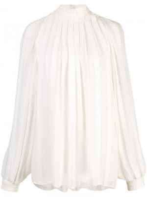 Блузка с длинными рукавами и вышивкой Derek Lam. Цвет: белый