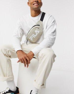 Светло-бежевая сумка-кошелек на пояс с логотипом Coel-Светло-бежевый Fila