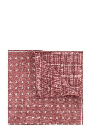 Двусторонний шелковый платок-паше с принтом CANALI. Цвет: оранжевый