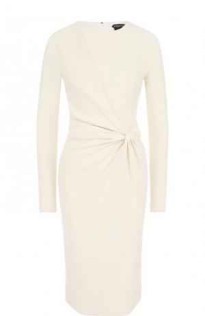Приталенное платье-миди с драпировкой Tom Ford. Цвет: молочный