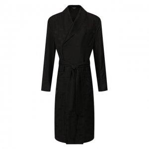 Шелковый халат Dolce & Gabbana. Цвет: чёрный