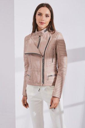 Женская Кожаная куртка 0307 INA VOKICH. Цвет: розовый