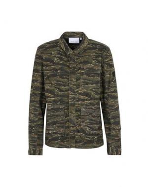Куртка ANERKJENDT. Цвет: зеленый-милитари
