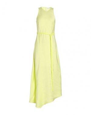 Длинное платье CALVIN KLEIN. Цвет: кислотно-зеленый
