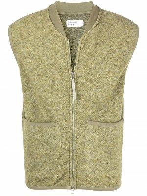 Woll-fleece waistcoat Universal Works. Цвет: зеленый