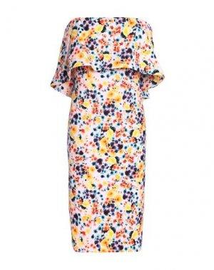 Короткое платье BADGLEY MISCHKA. Цвет: желтый