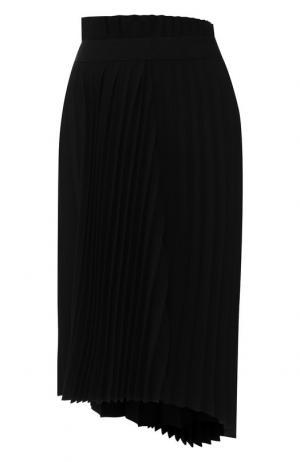 Плиссированная юбка Balenciaga. Цвет: чёрный