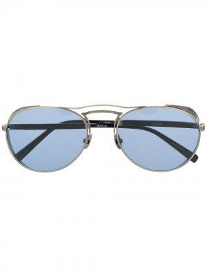 Солнцезащитные очки с затемненными линзами Matsuda. Цвет: серебристый