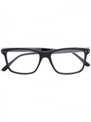 Очки с квадратной оправой Bottega Veneta Eyewear. Цвет: черный