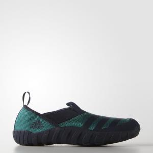 Коралловые тапочки Jawpaw Performance adidas. Цвет: зеленый