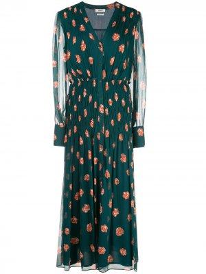Платье с цветочным принтом Jason Wu. Цвет: зеленый