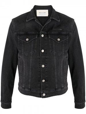 Джинсовая куртка с логотипом 1017 ALYX 9SM. Цвет: черный
