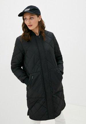 Куртка утепленная Selected Femme. Цвет: черный