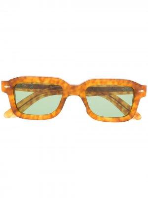 Солнцезащитные очки в квадратной оправе Jacque Marie Mage. Цвет: коричневый