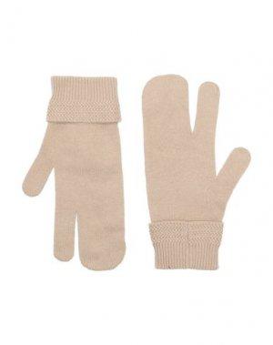 Перчатки MAISON MARGIELA. Цвет: песочный