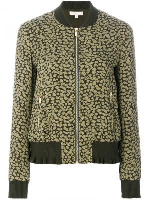Куртка-бомбер с рисунком Michael Kors. Цвет: зелёный