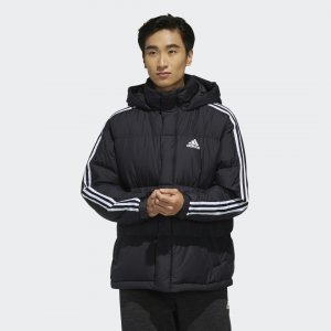 Пуховик 3-Stripes Puffy Performance adidas. Цвет: черный