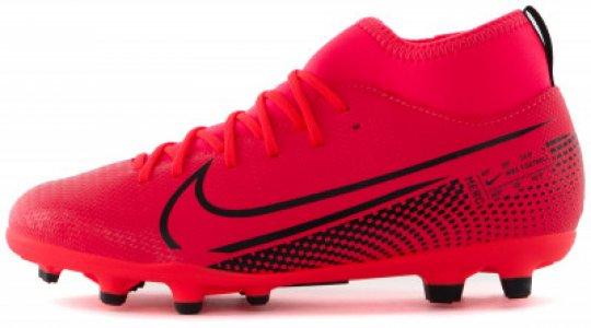 Бутсы для мальчиков Superfly 7 Club FG/MG, размер 34.5 Nike. Цвет: красный
